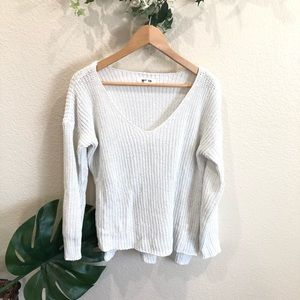 BB Dakota white knitted sweater Size M